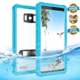 Samsung Galaxy S8 Plus Waterproof Case, Effun IP68 Certified Underwater Dustproof Snowproof Shockproof Case with Kick Stand, PH Test Paper and Floating Strap for Samsung S8 Plus (6.2inch) Light Blue