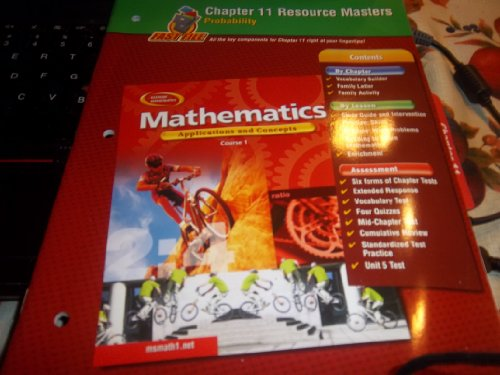 - Mathematics: Applications and Concepts, Course 1, Chapter 11 Resource Masters