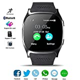 DXABLE Bluetooth Smart Watch Fitness Tracker, With Camera Support Pedometer/Music Player/Facebook/Whatsapp Sync SMS Support SIM TF Card For Android Samsung Iphone 7 7 PLUS Smartphone(Black)