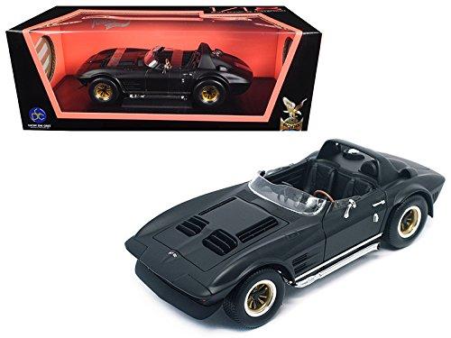 1964 Chevrolet Corvette Grand Sport Roadster Matt Black 1/18 Diecast Model Car by Road Signature 92697MBK ()