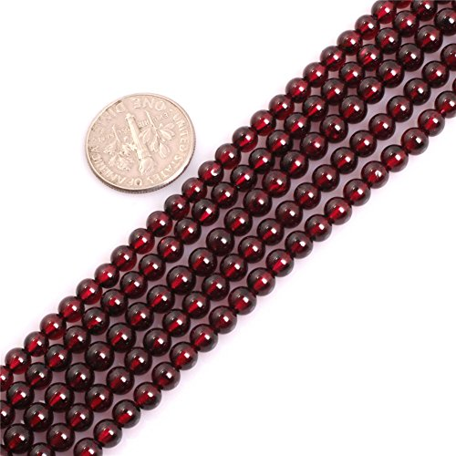 - Garnet Beads for Jewelry Making Natural Gemstone Semi Precious 4mm Round AAA Grade 15