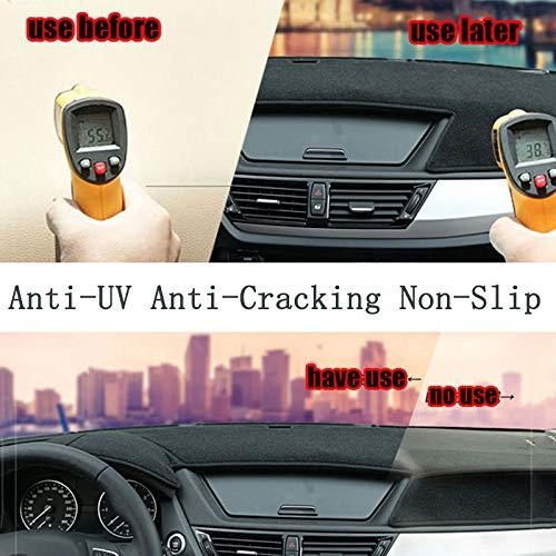 Oneuda Flannel Dashmat Dashboard Cover Dash Pad Car Mat Carpet Sun Shade for/Kia Sorento 2015 2016 2017 2018 Anti-Slip Dash Board Cover Auto Accessories