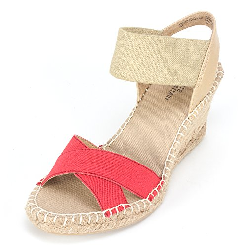 White Mountain 'LAUGHLINE' Women's Wedge, Red - 11 M