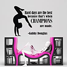 Design with Vinyl  CK-NJ-2355-OADR-4 Decor Item Gymnastic Sports Quote Vinyl Wall Decal Sticker, 10-Inch by 14-Inch, Black