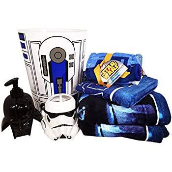 Star Wars Bathroom Set With 2 Bath Towels, 1 Hand Towel, 6 Washcloths,