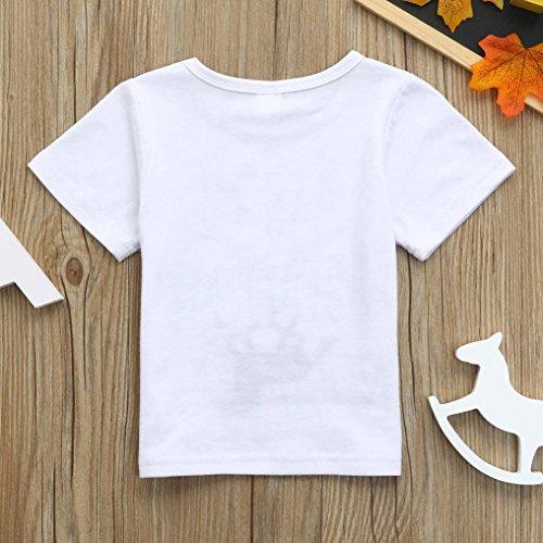 d1d14dd17dc ®GBSELL Little Girls Boys Summer Clothes Cow Horse Inside Letter Soft Tops  Cute T-