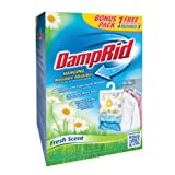 DampRid 3Count Hanging Moisture Absorbers (Fresh Scent) BONUS PACK 1 FREE Brand new & Fast Shipping Made in USA