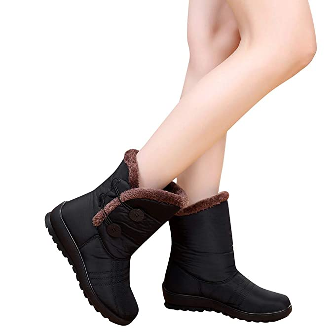 e1b555b37 Image Unavailable. Image not available for. Color: TnaIolr Women's Winter  Boots Waterproof Short Snow Boots Footwear Ladies Warm Shoes 2018