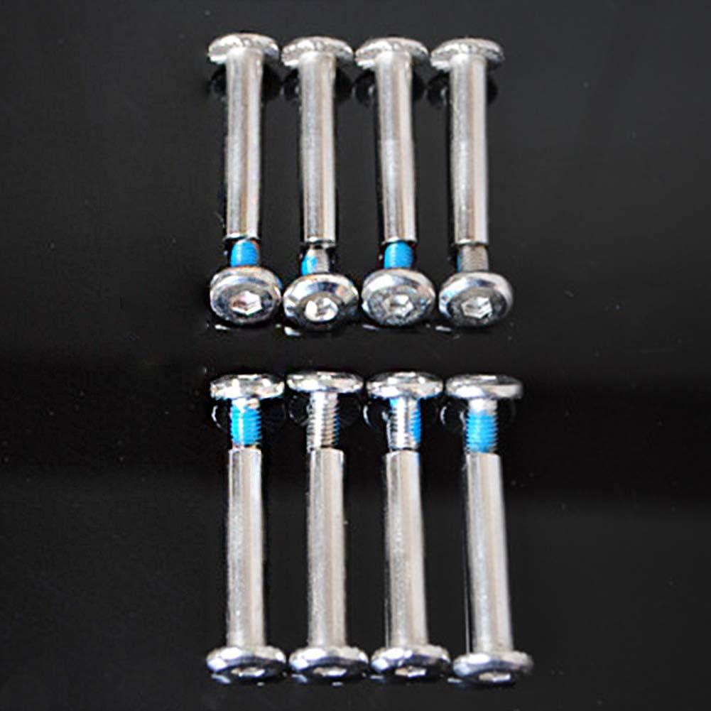 vis en fer Lumpur Lot de boulons de roue de skate /à installer avec /écrous de rechange pour essieux de roller en ligne 31 mm mat/ériel pratique robuste et accessoires pour chaussures