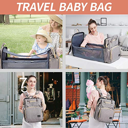 4-In-1 Baby Backpack Baby Carriers Convertible Lightweight Baby Bed Travel Storage Bag Baby Diaper Bag Baby Backpack N//I Diaper Bag Bed Multi-purpose Travel Storage Bag