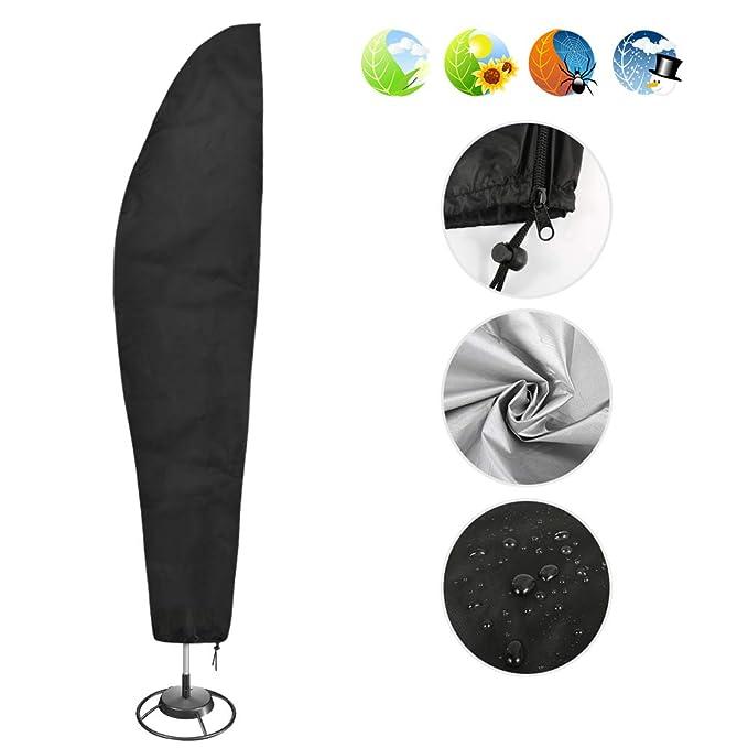 Nasharia Schutzhülle für Ampelschirm 210D Nylon Wasserdichtes Sonnenschirmhülle Abdeckhauben für Sonnenschirm für Schirm 2 bi