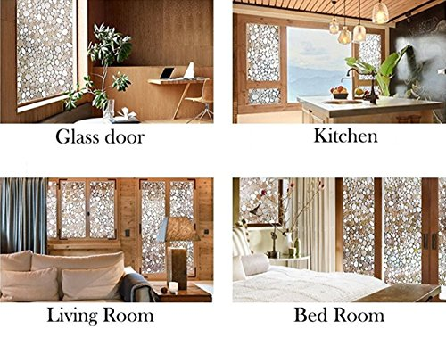 Emoyi 3d No Glue Static Decorative Privacy Window Films for Glass Non-Adhesive Heat Control Anti Uv 17.7in. By 78.7in. (C) by Emoyi (Image #7)