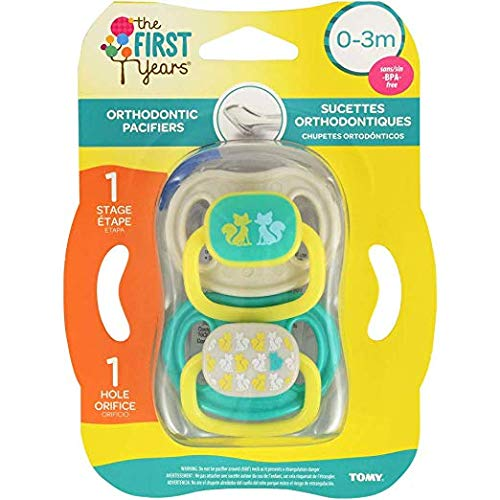 The First Years Orthodontic Pacificers 3 To 6 Months 2 Pack New