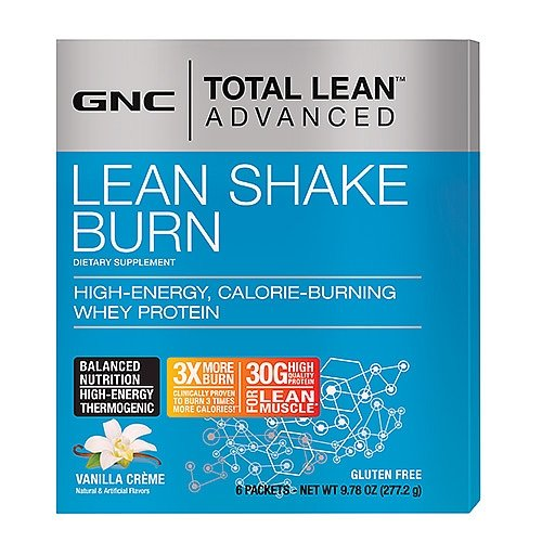 GNC Total Lean Advanced Lean Shake Burn Vanilla Creme 6 pk