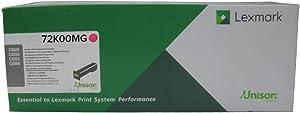 Lexmark Magenta Return Program Toner Cartridge for US Government, 8000 Yield (72K00MG)