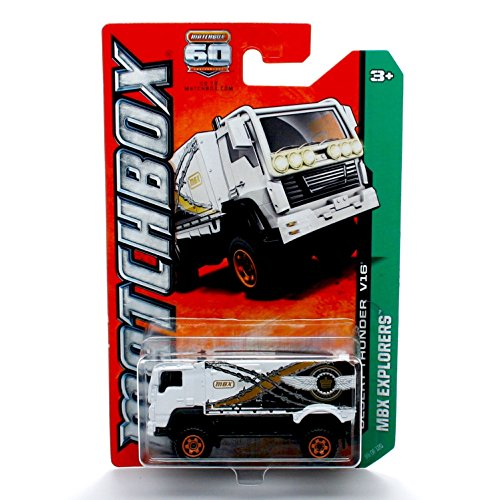 Matchbox Desert Thunder V16 (White) MBX Explorers 2013 1:64 Scale Basic Die-Cast Vehicle (#99 of 120)