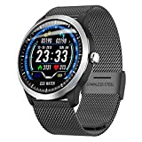 Cywulin Fitness Tracker Multi-Function Touchscreen Activity Tracking Smart Watch Bracelet IP68 Waterproof with Heart Rate Sleep Blood Pressure Monitor, Pedometer for iPhone iOS Android Phone (Black)