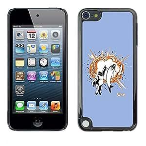 EJOY---Cubierta de la caja de protección la piel dura para el ** Apple iPod Touch 5 ** --Gorila & Shark Explosión