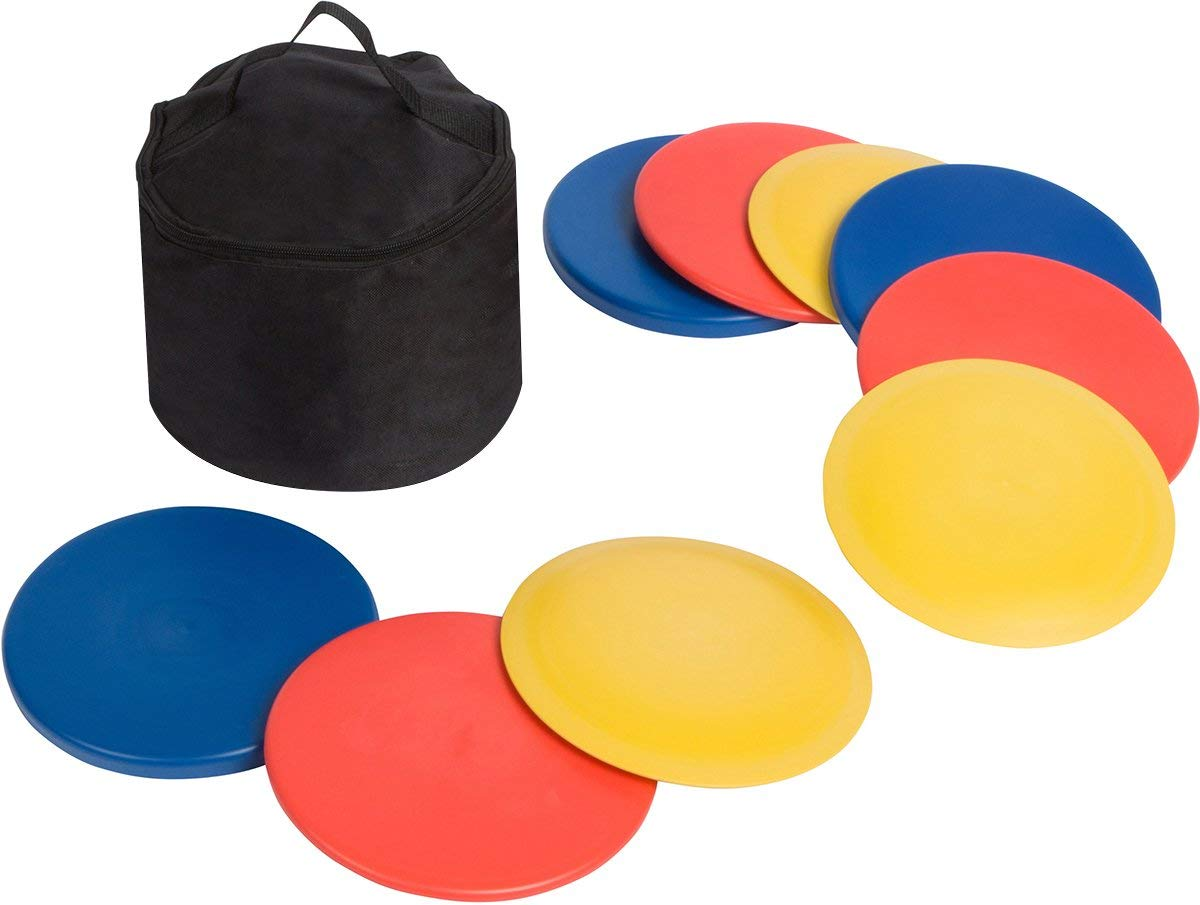 Trademark Innovations Disc Golf Set (9 Discs) with Disc Golf Bag (Renewed) by Trademark Innovations