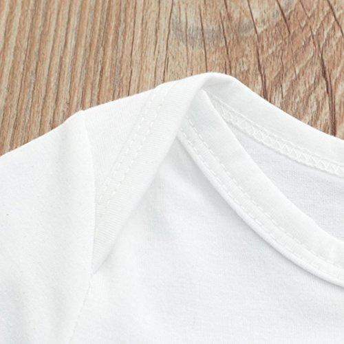 G Real Unisex Infant Baby Boys Girls Happy Birthday Daddy Print Romper Jumpsuit Short Sleeve