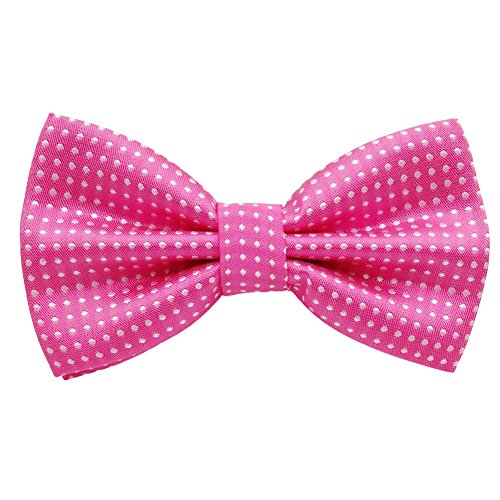 Mens Classic Polyester Polka Dots Bow Ties Pre-tied (Hot -
