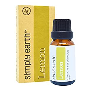 Lemon Essential Oil by Simply Earth - 15 ml, 100% Pure Therapeutic Grade