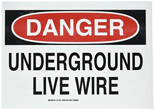 Brady 127031 Electrical Hazard Sign, Legend