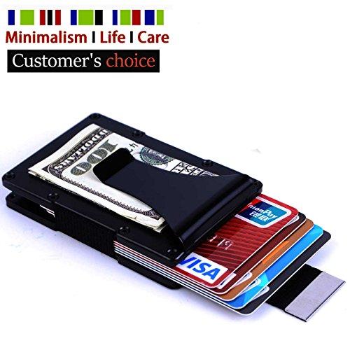 - CASAFE+ Mens Minimalist Aluminum Money Clip – Slim RFID Blocking Metal Wallet-Credit Cards Holder With pulling Tab for Men
