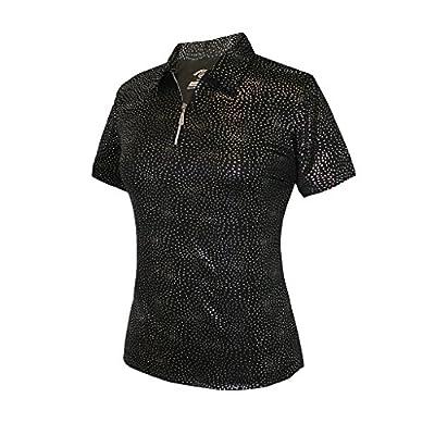 Monterey Club Ladies Dry Swing Firework Foil Solid Shirt #2441