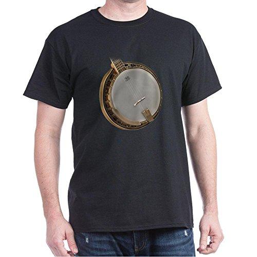 CafePress Vintage Banjo 100% Cotton T-Shirt Black