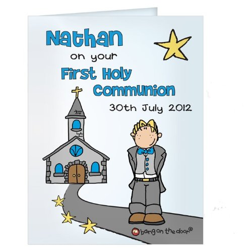 First Holy Communion Boys Card Christening, Religious, Naming Christmas, Gift, Idea Cards, idea Personalised