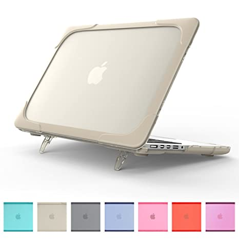 buy online 95be7 04a49 MacBook Air 11 Inch Kickstand Case, Funut 2 in 1 Rubberized Hard Plastic  Case Cover Shock Proof Translucent Matt Protective Case for Laptop MacBook  ...