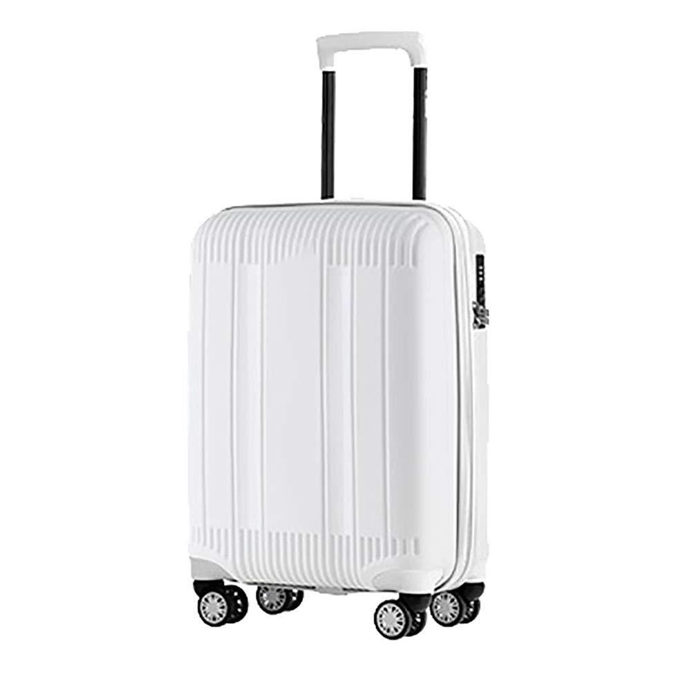 トロリースーツケース女性20インチの搭乗スーツケース小さな新鮮な女の子のトロリーケースユニバーサルホイールホワイト   B07KTZK59G
