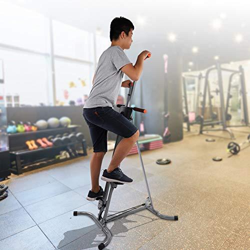 Yosooo Home Climber Machine, Adjustable Folding Heavy Duty Steel Vertical Full Body Workout Fitness Climber Climbing Cardio Exercise Machine Home Gym Stepper by Yosooo (Image #7)
