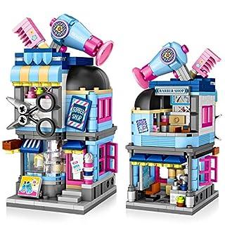 Girls Building Blocks Set Toy, Vimpro 403Pcs Hair Salon STEM Construction Kits, Educational Building Bricks Gift for Age 6-12 Years Old Kids