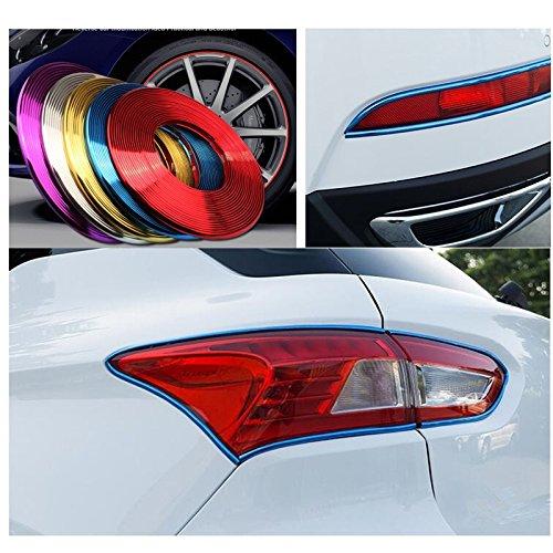 Gaosheng 5 Meter Auto Zierleiste Chrom Zierleisten Trim Innenleiste flexiblem Innenraum Dekorative Streifen Line DIY Rot