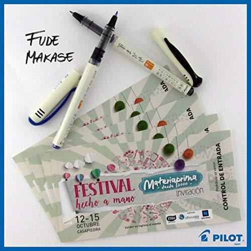 Pilot Fude Makase Color Brush Pen, 8 color (Black, Red, Orange, Blue, Blue Black, Green, Pink, Sepia) each 1 piece. with Original Case by Pilot Fude Makase (Image #5)