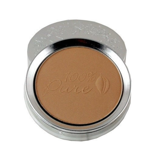 100% Pure: Fruit Pigmented Powder Foundation: Toffee, 0.32 oz, All Natural, Organic Formula Colored with Antioxidant and Vitamin Rich Fruit Pigments (Percent Foundation 100)