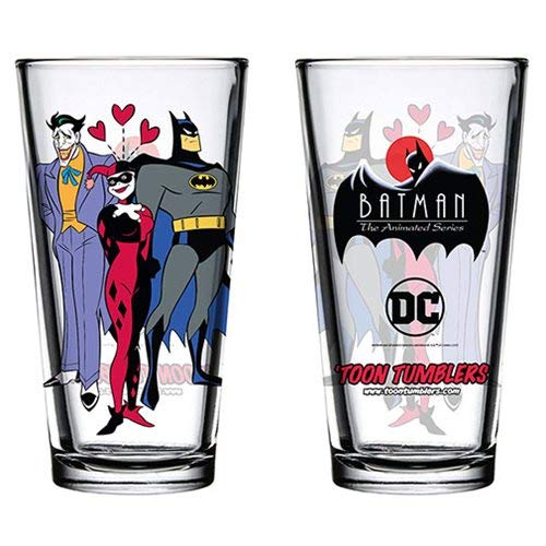 (Batman: The Animated Series Mad Love Toon Tumbler Pint Glass)