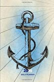 2019 Daily Planner: Small Mini Calendar To Fit Purse & Pocket; Anchor Design For Sailor & Navy; Monthly & Weekly Goals Journal With Quotes, Address Book & Notes Section; Dates From Jan - Dec 2019
