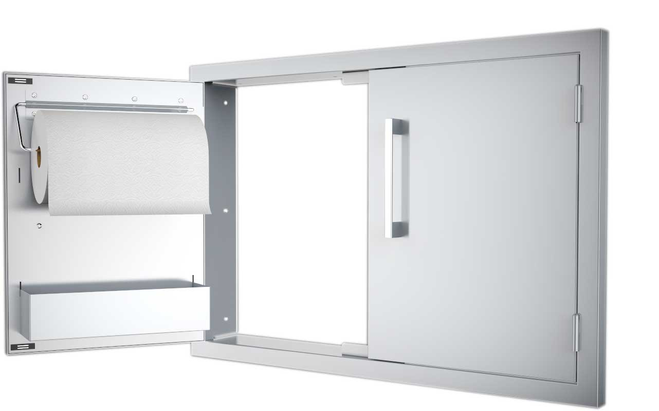 Sunstone B-DD42 Double Raised Doors for Stone Island with Shelves 42-Inch