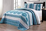 White King Size Bed 3-Piece Oversize (115
