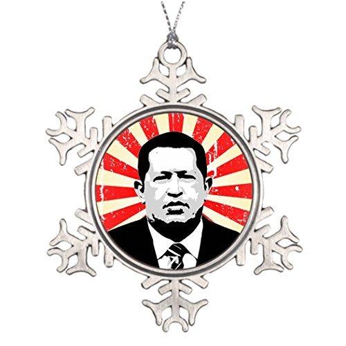 (Metal Ornaments Personalised Christmas Tree Decoration Hugo Chavez Unusual Christmas Decorations Friendship Christmas Snowflake)