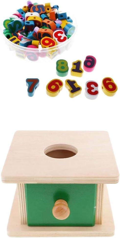 perfeclan Montessori - Juego De Cordones De Madera A Juego con Caja Esférica Y Cordón: Amazon.es: Juguetes y juegos