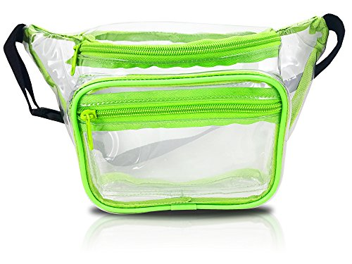 Clear Fanny Pack Stadium Security Approved Waist Bag for Events, Games, and Concerts Transparent (Green)
