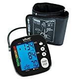 Blood Pressure Monitor by Vive Precision - Automatic Digital Upper Arm Cuff - Accurate, Portable & Perfect for Home Use - Electronic Meter Measures Pulse Rate - One Size Fits Most Cuff (Black)