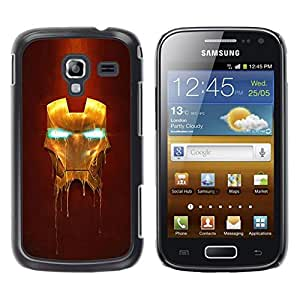 Design for Girls Plastic Cover Case FOR Samsung Galaxy Ace 2 Iron Superhero Mask OBBA