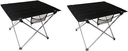 QLPP Mesas Laterales de Camping portátiles con Tablero de Aluminio ...