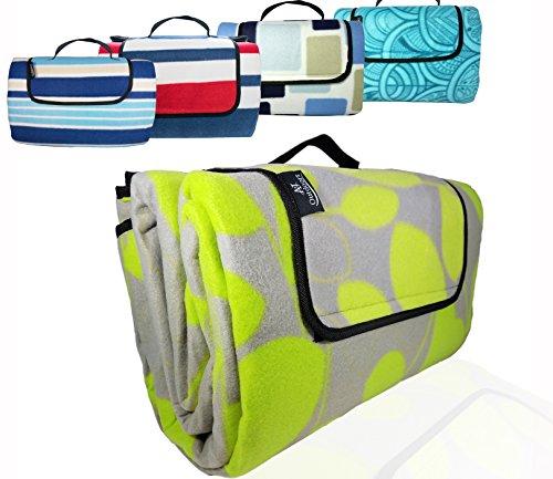 - XXLarge Premium 3-Layer Most Durable Outdoor Blanket/Picnic Blanket - Waterproof with Cozy Polar Fleece Top| 80
