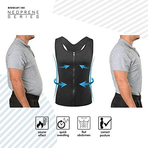 Waist Trainer for Men Vest Corset Combined with Abs Stimulator Helps to Healthy Weight Loss and Belly Fat Burning on Fitness Workouts or Daily Life and Slimming Tank Top Allows That BMI Goals 4